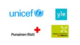 Perustajat - Unicef, Yle, Punainen Risti, Kirkon ulkomaanapu