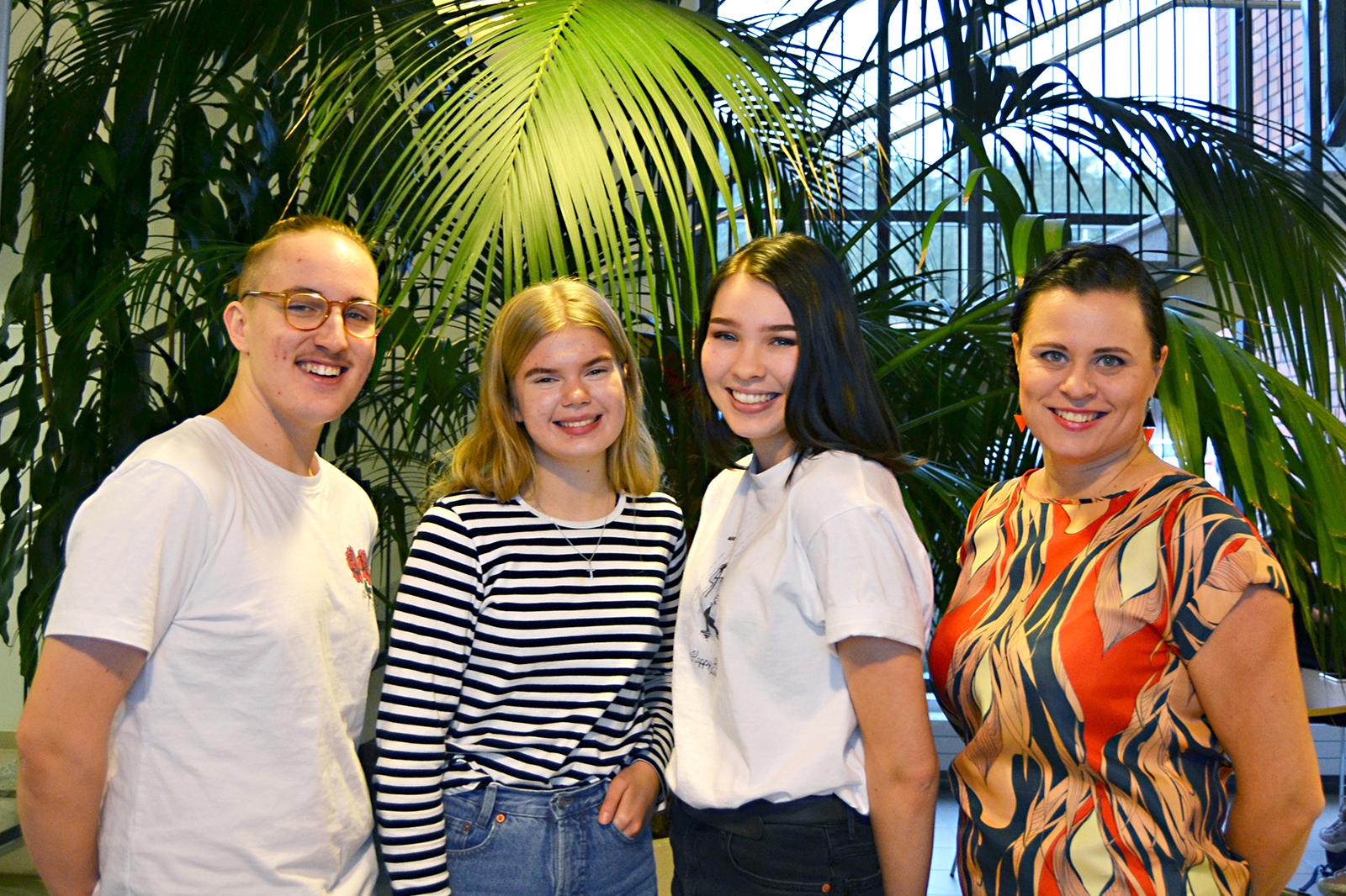 Mikael, Marleena, Inka ja Susanna valittiin mukaan Nenäpäivän oppimatkalle Ugandaan.