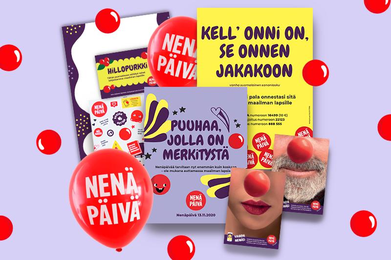 Inspiroiva kampanjapaketti sisältää puuhavihon, ilmapalloja, upeita tarroja ja julisteita sekä muuta mukavaa.