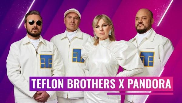 Teflon Brothers yhtye yhdessä artistin Pandora kanssa