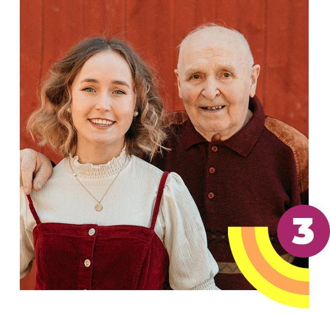 Lotta ja pappa ovat ehdolla Vuoden Postiivisimmaksi Suomalaiseksi. Katso äänestysohjeet.