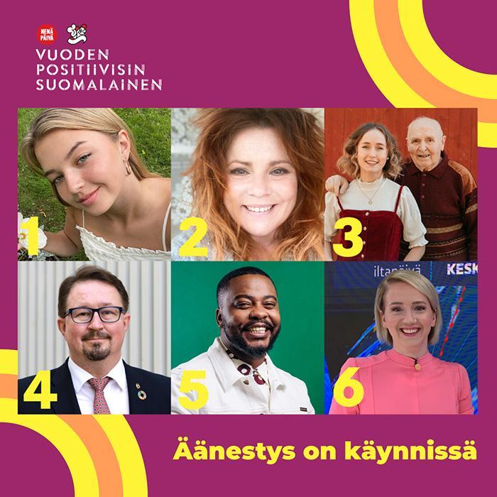 Vuoden Positiivisin Suomalainen 2021 -äänestysohjeet